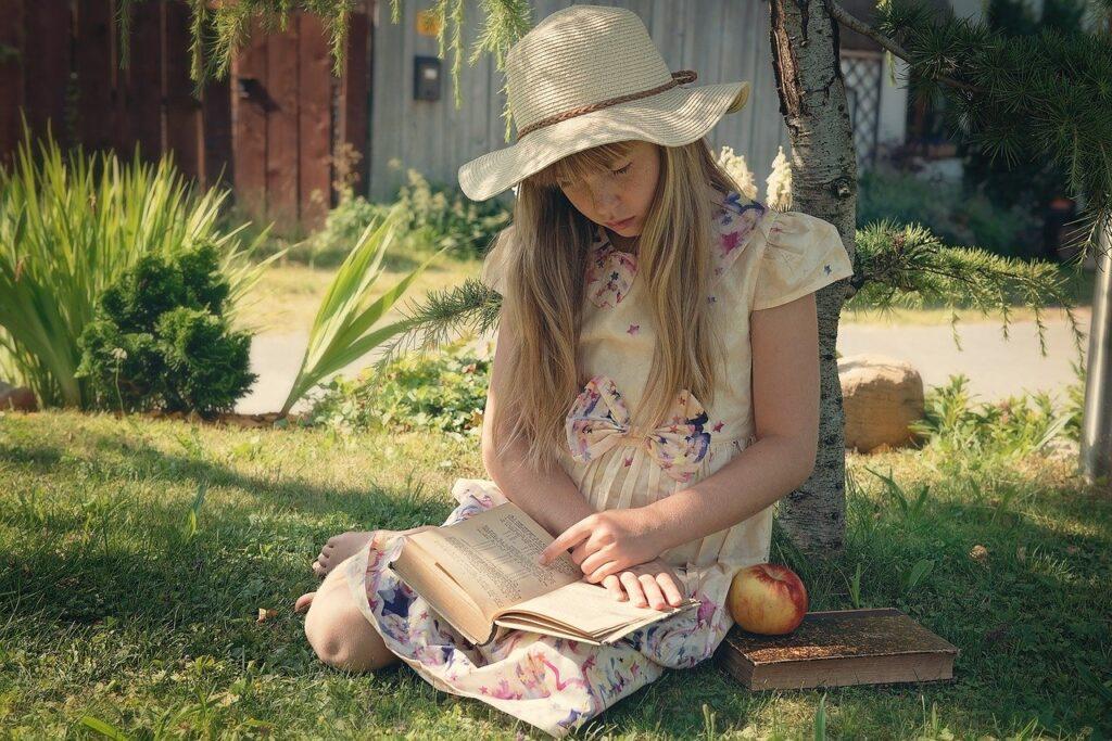 girl, child, read